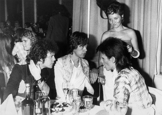 1973 - London, Lou Reed, Mick Jagger and David Bowie
